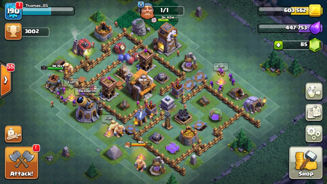 Tom on twitter 3k on my f2p builder base rushing the - Aldea de constructor ...