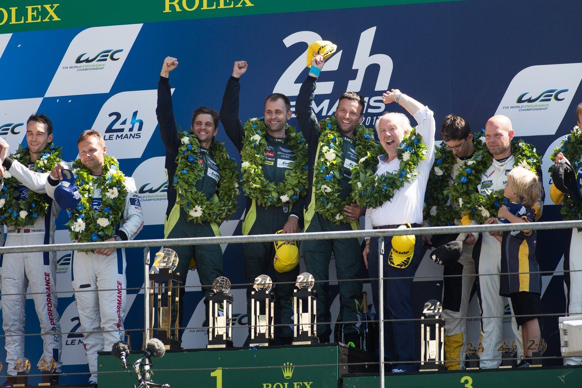 VICTORY.  @AMR_Official #teamAMR #LeMans24