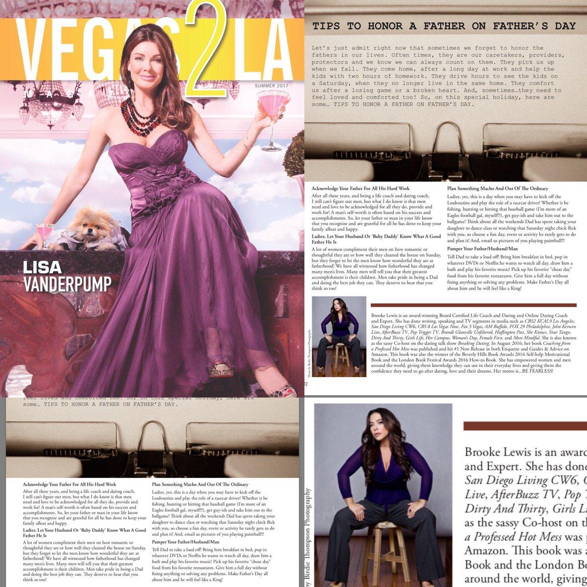 .@Vegas2LAMag @BCLONA @AlanSemsar #HappyFathersDay #article @LisaVanderpump #beauty graces COVER #FathersDay  to all! #expert #Vegas<br>http://pic.twitter.com/QVK2Yr52yc
