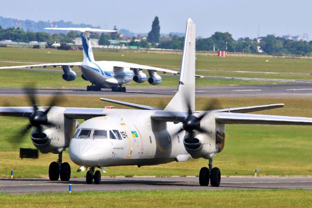 الطائرة السعودية الأوكرانية ' انتونوف AN...