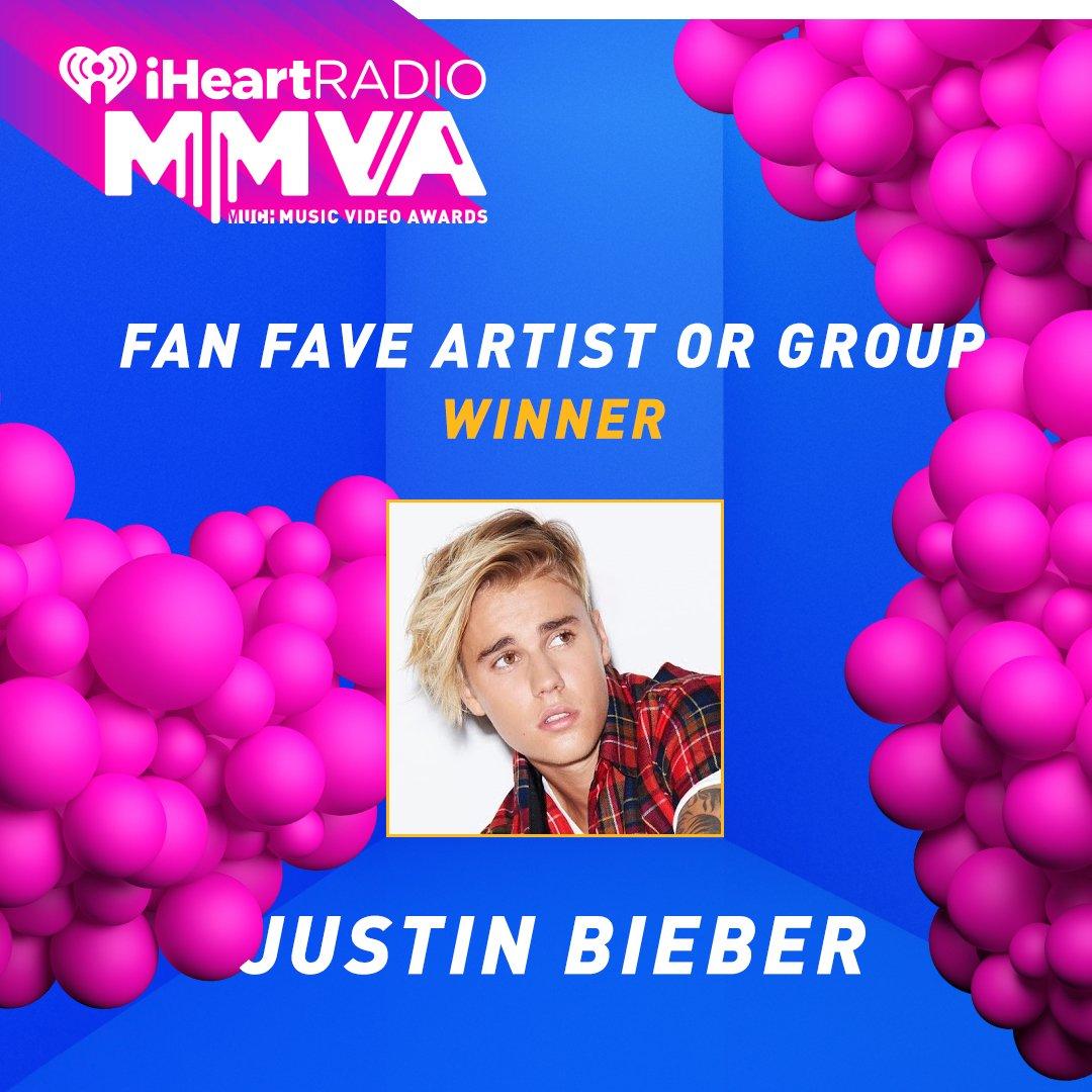 And the winner is... @justinbieber! @iHeartRadioCA #MMVAs #Justin4MMVA...