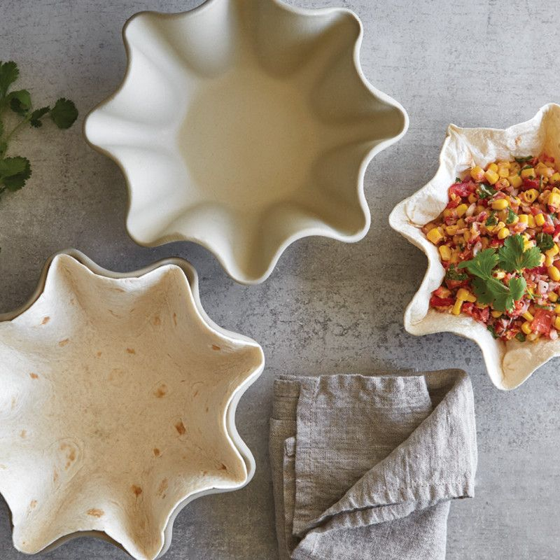 If you're a fan of taco salad, our tortilla shell baker set is perfect...
