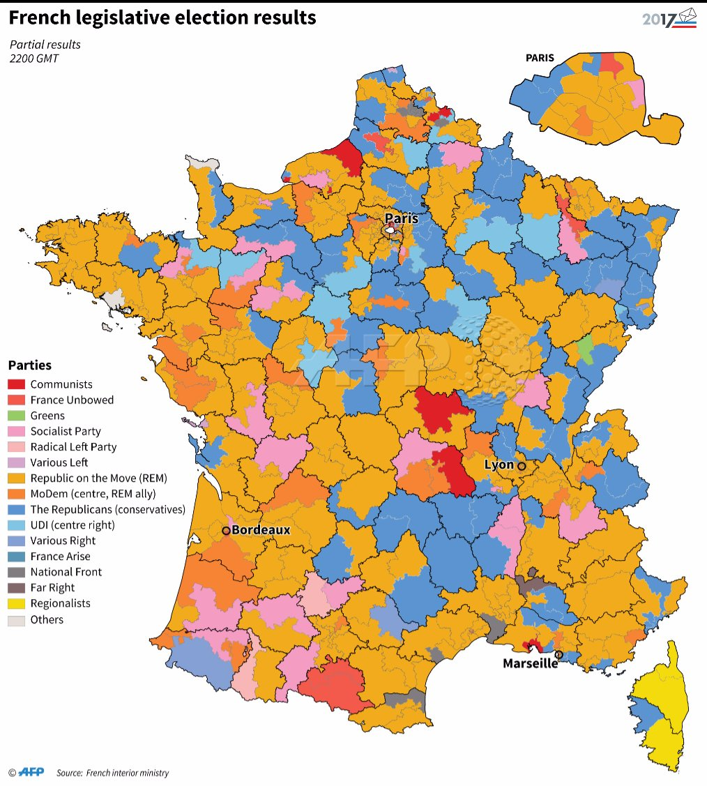 Clear Map Of France.Afp News Agency On Twitter Macron Marches To Clear Majority In