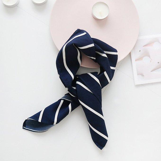 Striped Acrylic Headscarf