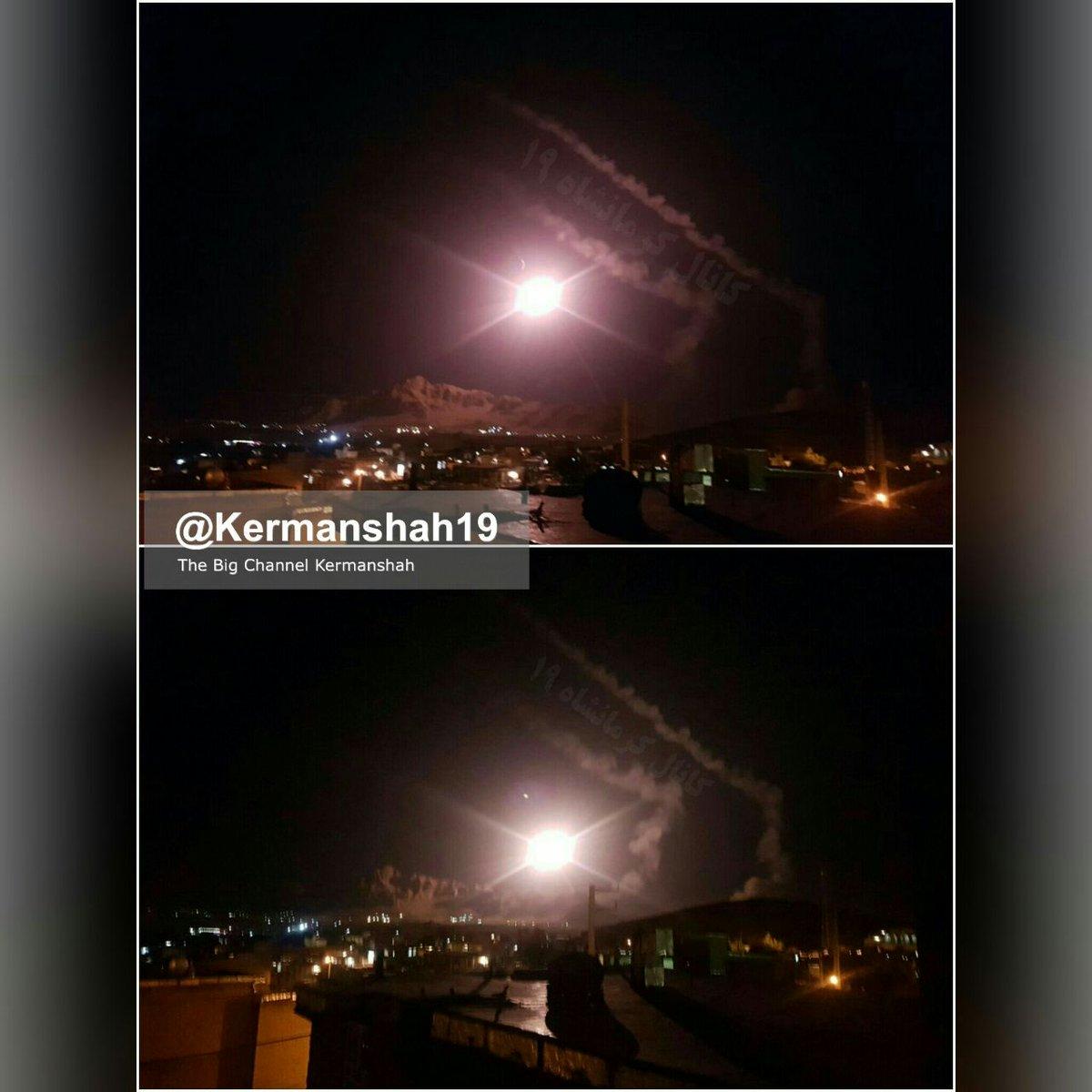 Иранские ракетные удары по целям в Сирии
