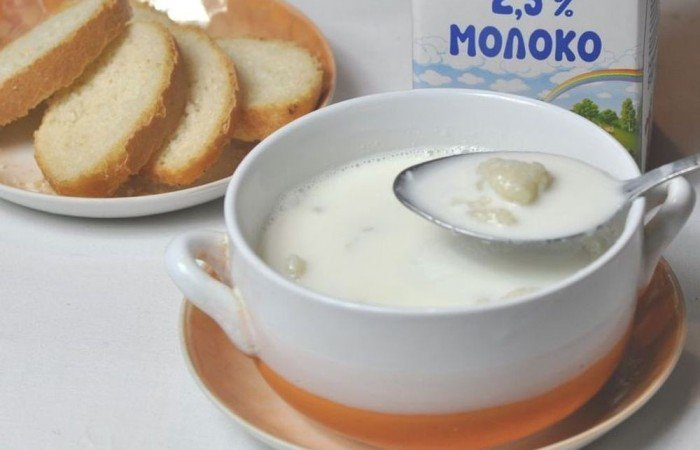 Молочный суп с вермишелью для ребенка