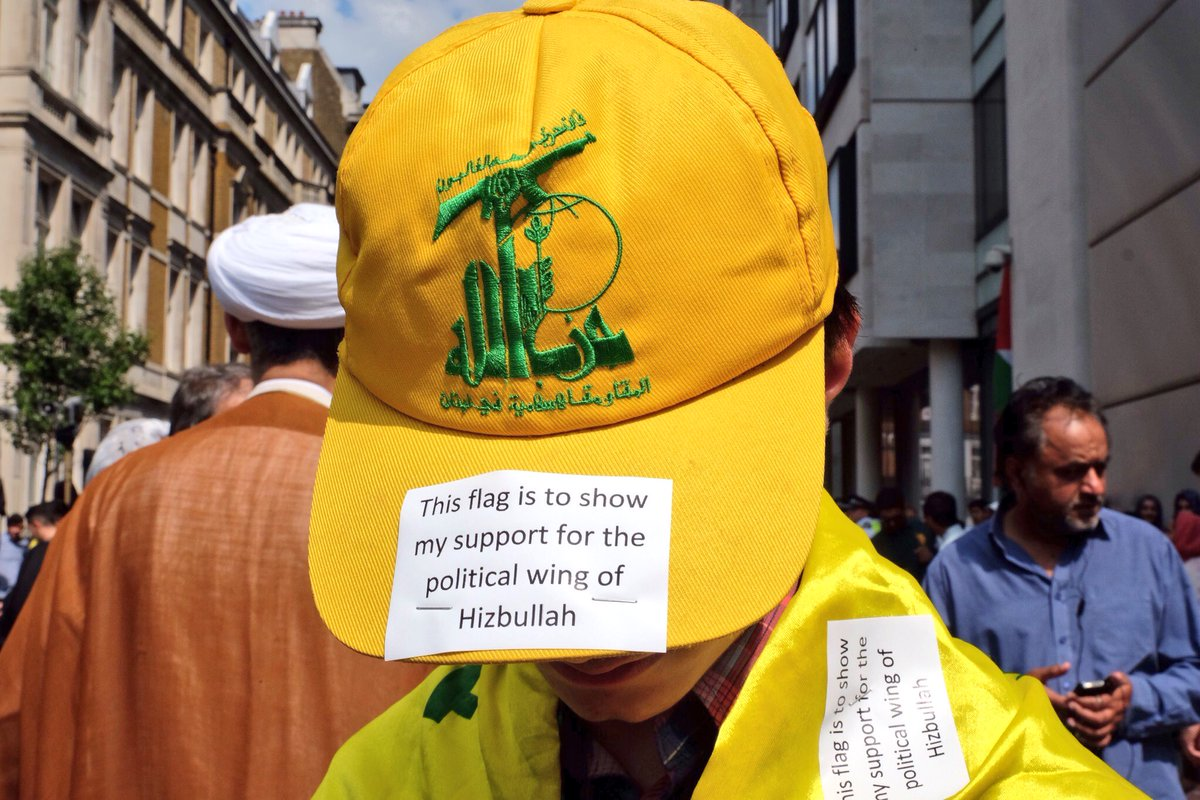 """There is no """"political wing"""" of Hezbollah. You are a terrorist. https://t.co/2eVrDw7Ggz"""