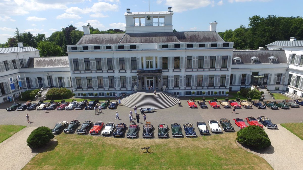 Today the Dutch Morgan Club visited Palace Soestdijk. #MorganAdventure #MSCCH #Morgan <br>http://pic.twitter.com/eX76v24e5W
