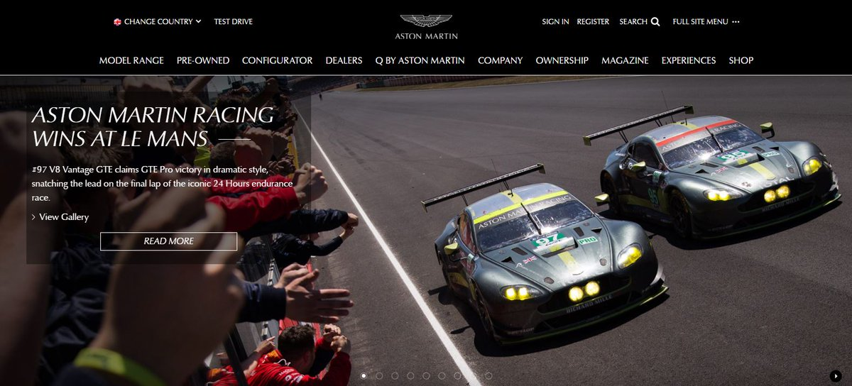 We\'re delighted to round off a fantastic day by changing our homepage to this! #LeMans24 @AMR_Official