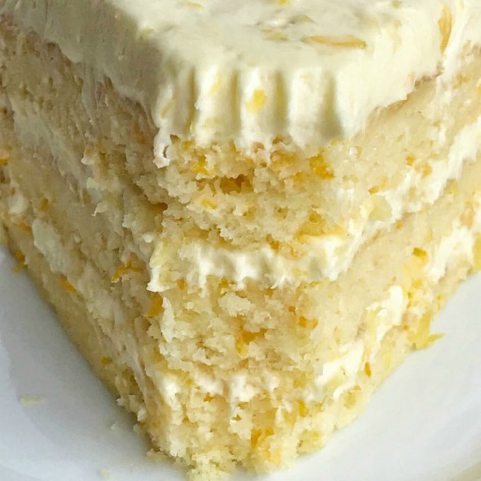 Orange Pineapple Layer Cake