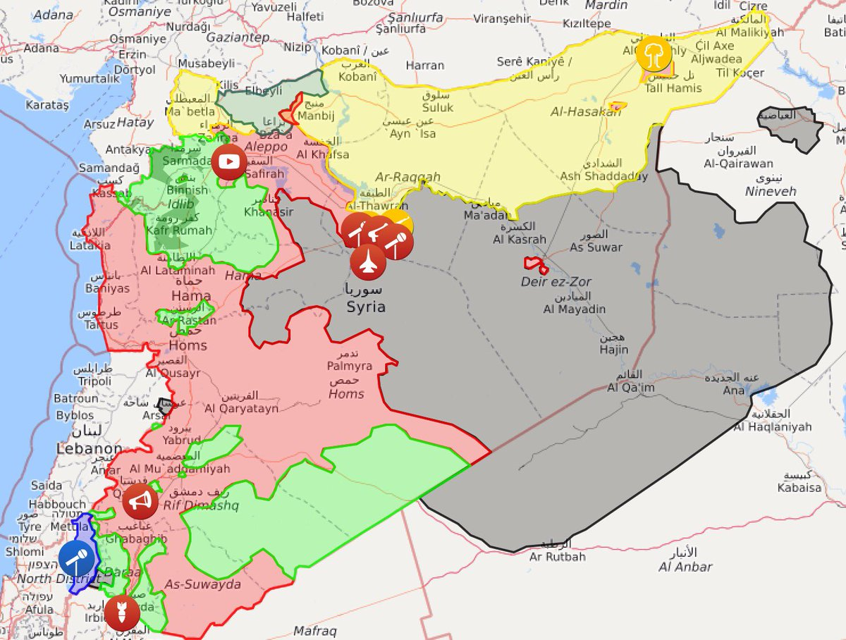 James Denselow On Twitter US Downing Syrian Jet Just The Latest - Map of us safe zones