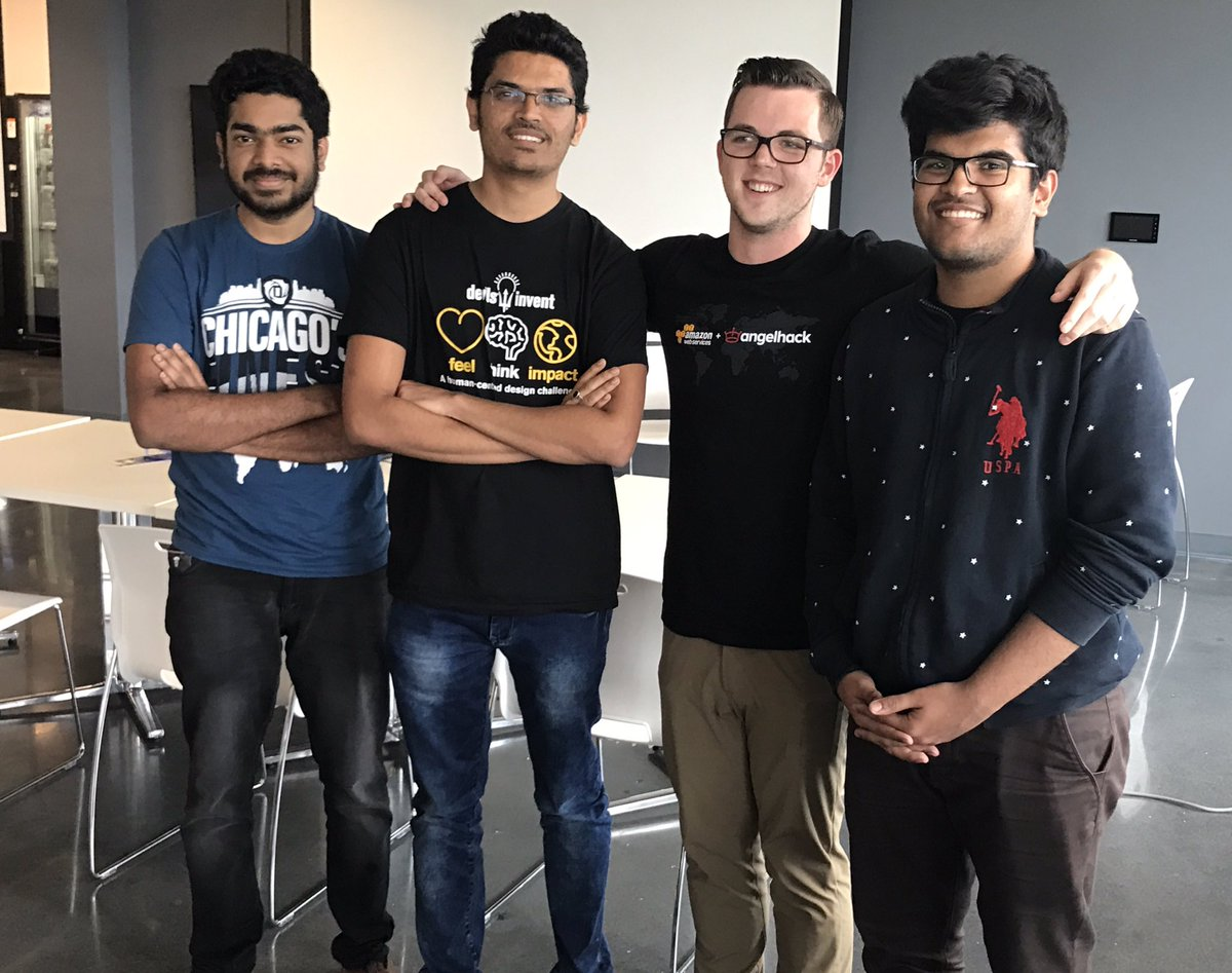 Packeroo won @AngelHack  Using @amazonecho the team developed an intelligent mobile app which assists you with packing #Innovation #Hack <br>http://pic.twitter.com/3X6cYbFz6x