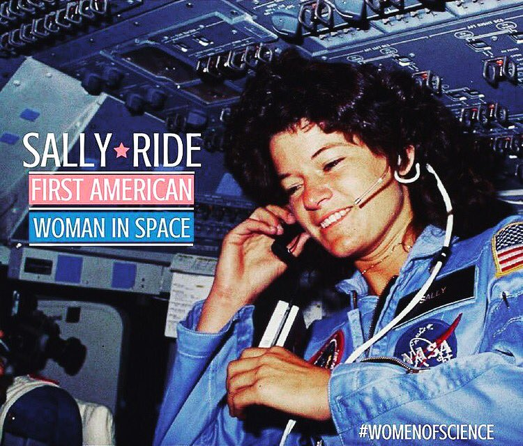 34 years ago Sally Ride became the first American woman in space! #WomenInSTEM <br>http://pic.twitter.com/tADjPulqXL