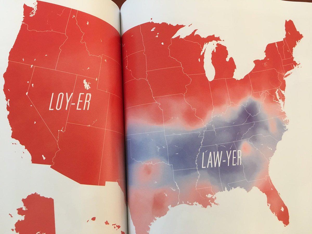 lawyer の地域別発音。 https://t.co/jGHbdMJoES