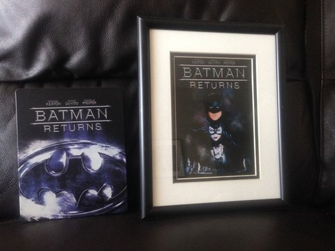 BATMAN DVD COVER TO PICTURE FRAME WALL ART