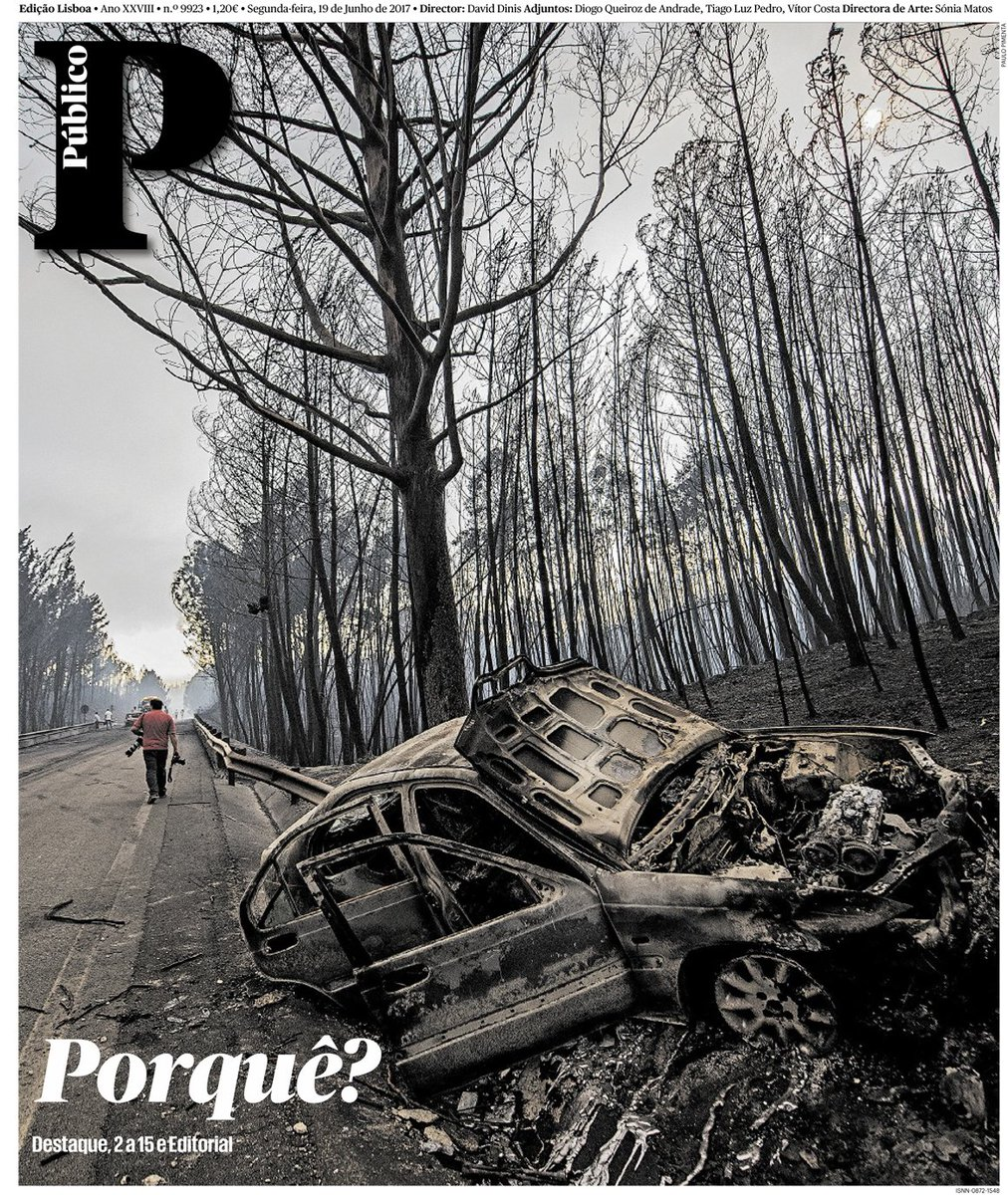 A primeira página do @Publico desta segunda-feira #PedrogaoGrande