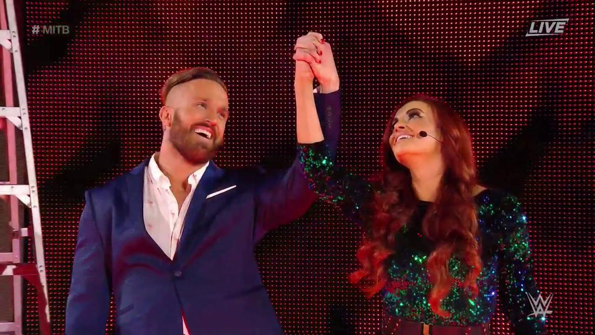 Apparently at #MITB, love is in the air! @RealMikeBennett @MariaLKanel...