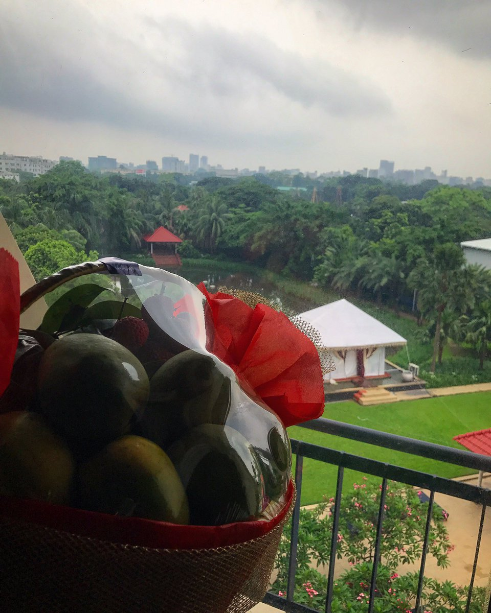 Thoughtful and tasty gift to brighten up this rainy day in Bangladesh. Thank you, Colonel! #MonkeysDontStealMyMangos https://t.co/BDz6BRAZMV