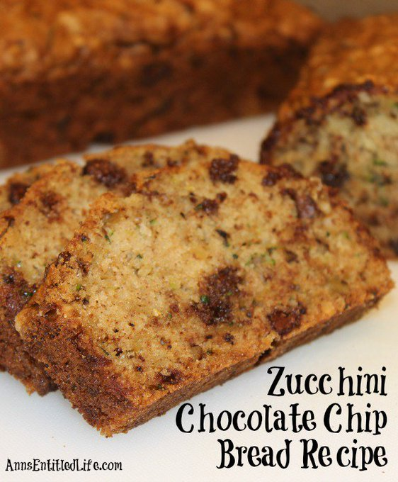 Zucchini Chocolate Chip Bread Recipe