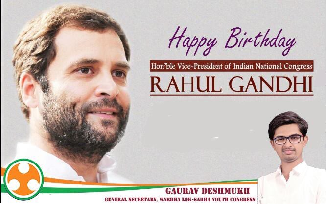 Happy birthday to our beloved leader Hon\ble Rahulji Gandhi