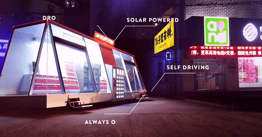 """Résultat de recherche d'images pour """"start-up suédoise Wheelys Café, la Moby Mart  boutique automatisée"""""""