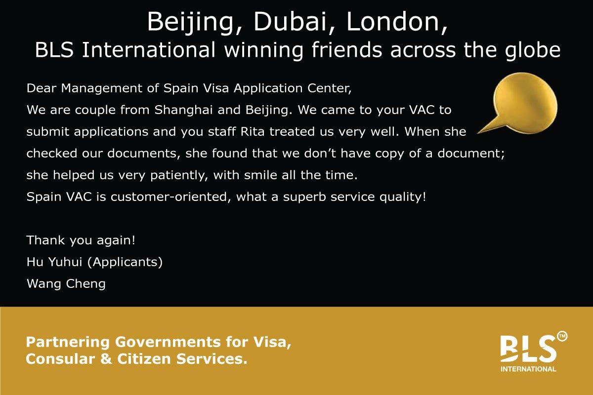 BLS International winning friends across the globe #Visa #CustomerExperience<br>http://pic.twitter.com/TiTuHli0nD
