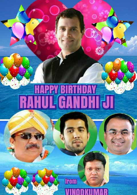 Happy birthday sir RAHUL GANDHI JI