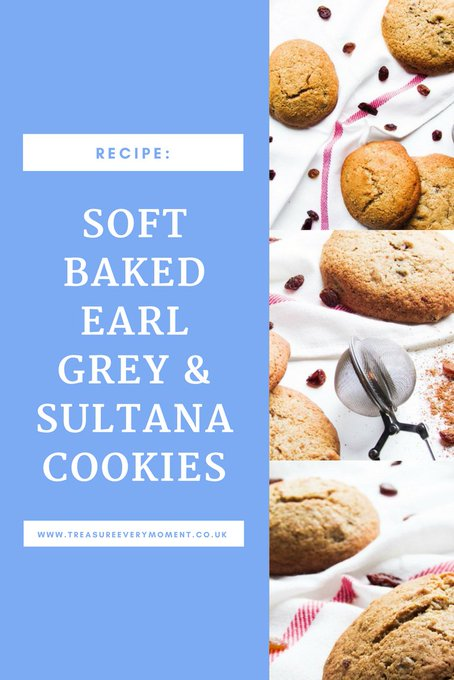 RECIPE: Soft Baked Earl Grey and Sultana Cookies