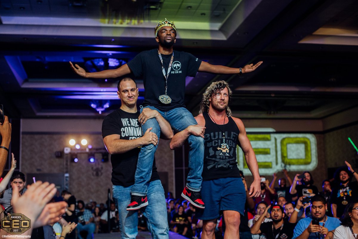 CEO Entrance with @KennyOmegamanX & @CEOJebailey