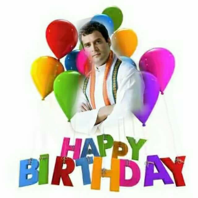 Happy birthday to Rahul Gandhi ji