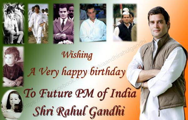 Happy birthday to young and dynamic leader Hon\ble Congress Vice President Shri.Rahul Gandhi Ji..
