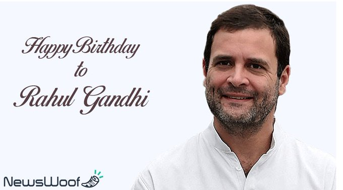 Happy Birthday to Rahul Gandhi.