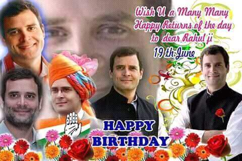 Happy Birthday to Pandit Rahul Gandhi Ji , Many many happy returns of the day
