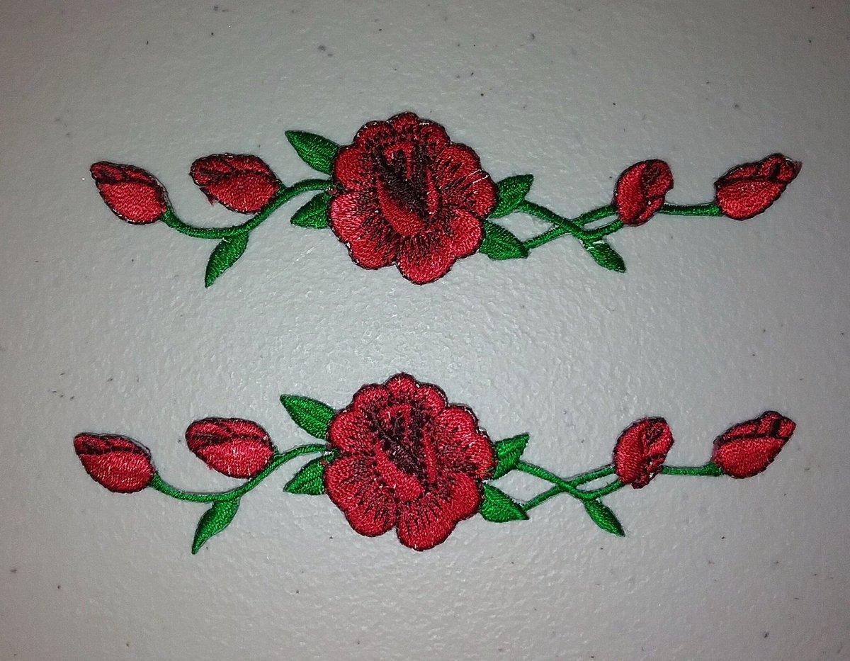 patch vans rose