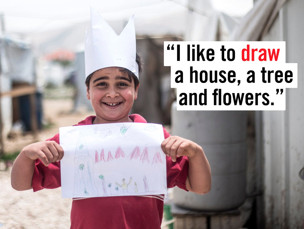 Meet Khaled*. Khaled* is 10 years old and wants to be a artist when he grows up #worldrefugeeday https://t.co/wiu6vZJ8g5