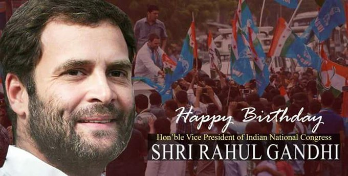 Happy birthday Rahul gandhi