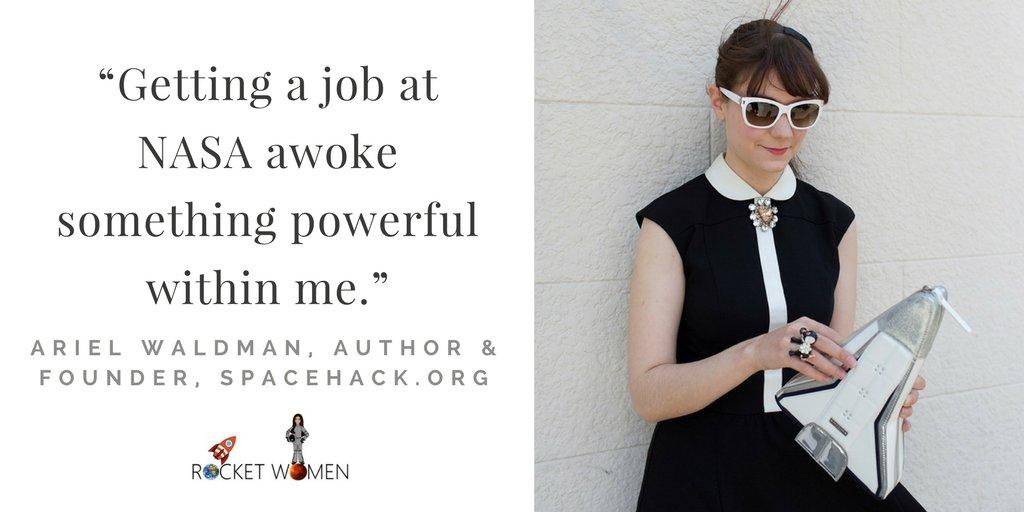 Meet A Rocket Woman: Ariel Waldman, Author &amp; Founder,  http:// Spacehack.org  &nbsp;    http:// bit.ly/arielwaldman  &nbsp;   #WomenInSTEM #MondayMotivation #STEM <br>http://pic.twitter.com/b2Z9jf0WNG