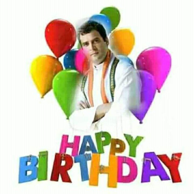 Happy Birthday Congress Vice President Shri Rahul Gandhi ji. God Bless You & Your Family