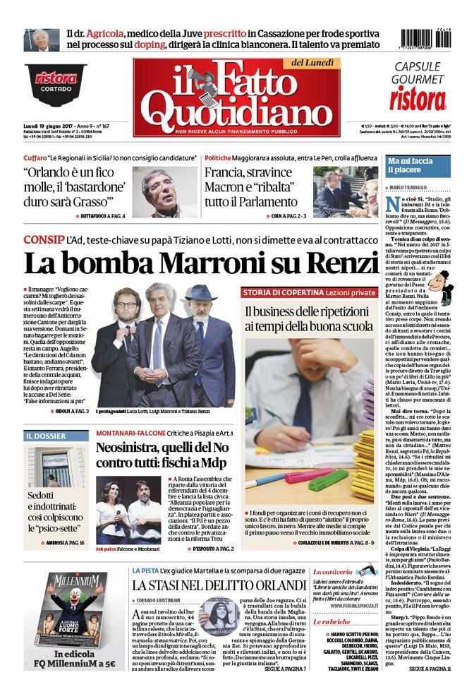 La bomba Marroni su Renzi: https://t.co/...