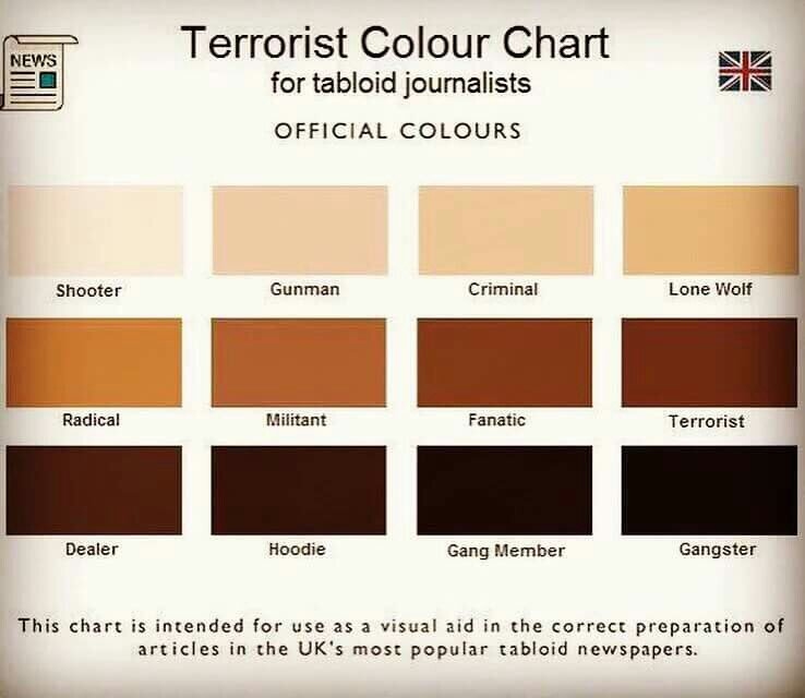 Terrorist Color Chart for Tabloid Journalists