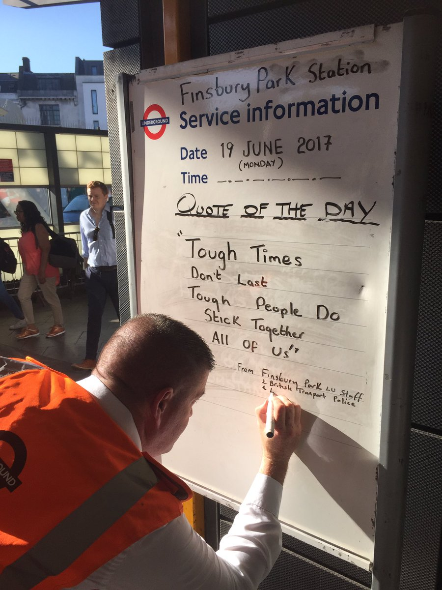 My local tube worker Finsbury Park