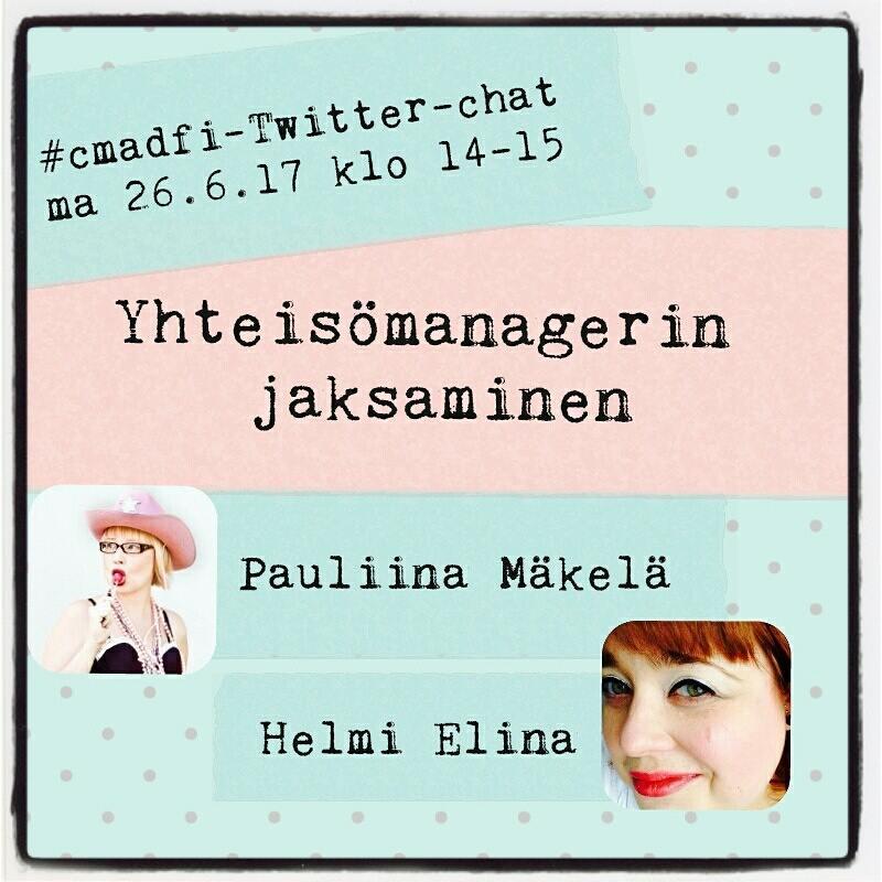 Thumbnail for Twitter-chat: yhteisömanagerin jaksaminen