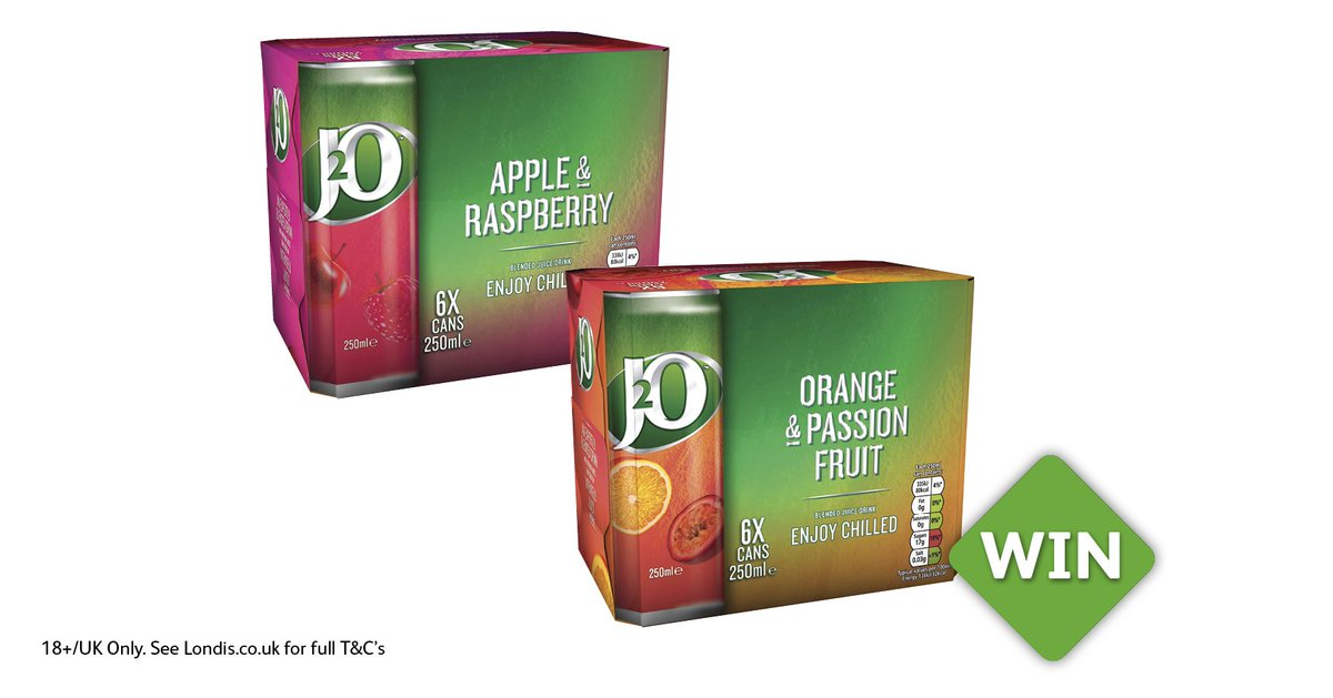 #MegaMonday Giveaway! To #WIN 2 packs of @J2O simply RT, Follow @myLondis #LondisMegaDeals