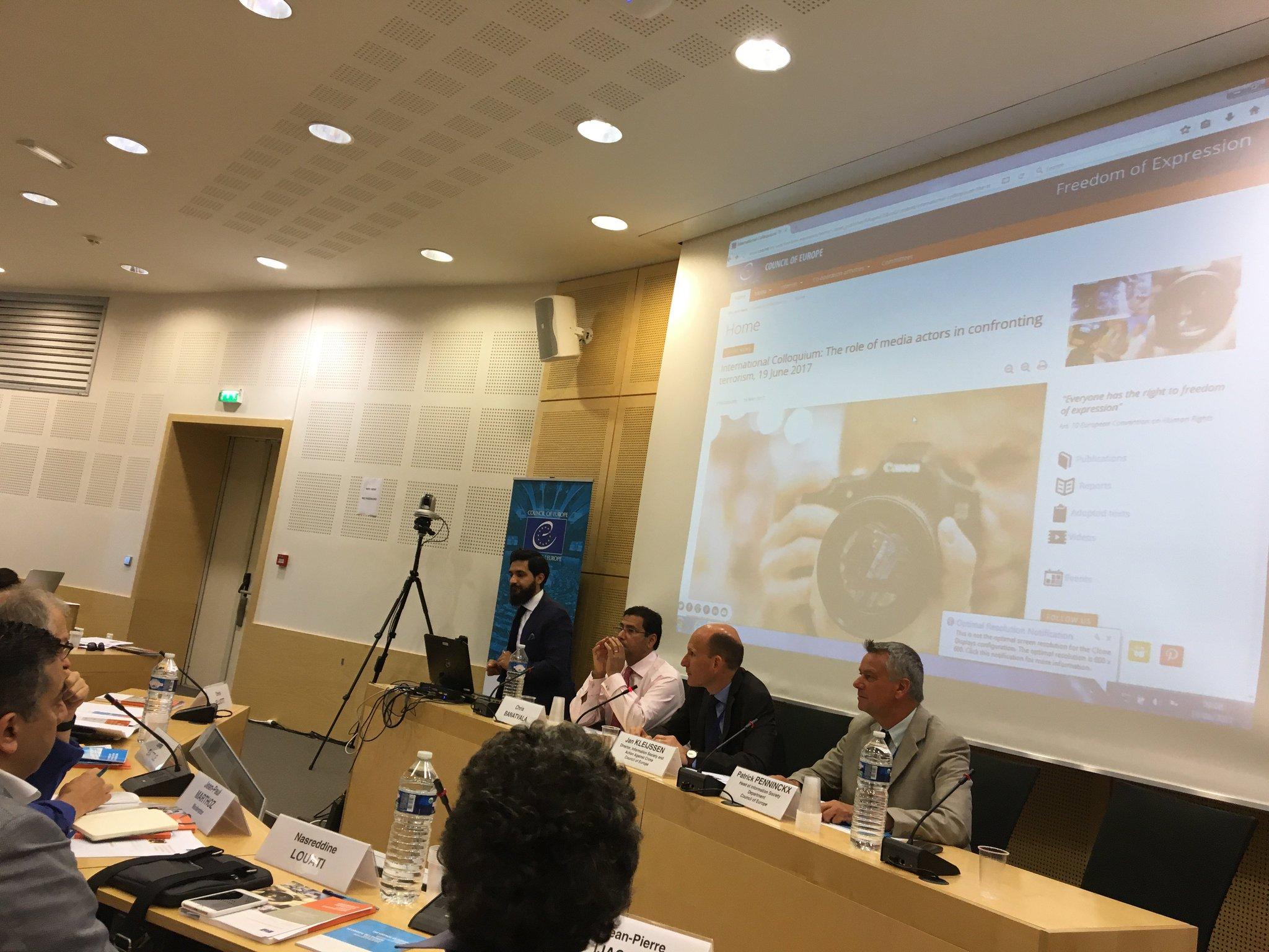 .@JKleijssen opens @coe colloquium on the role of media actors in confronting #terrorism https://t.co/RArVIrJaLV #terror #mediaethics https://t.co/dyxnrGvMZK