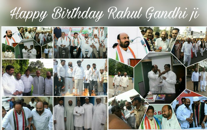 Happy birthday...Sri Rahul Gandhi ji.. Jamal Shareef. Advocate. Chairman DCC Minority Warangal Dists.