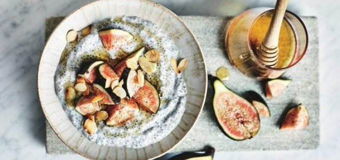 Coconut & Fig Overnight Chia Pudding Recipe