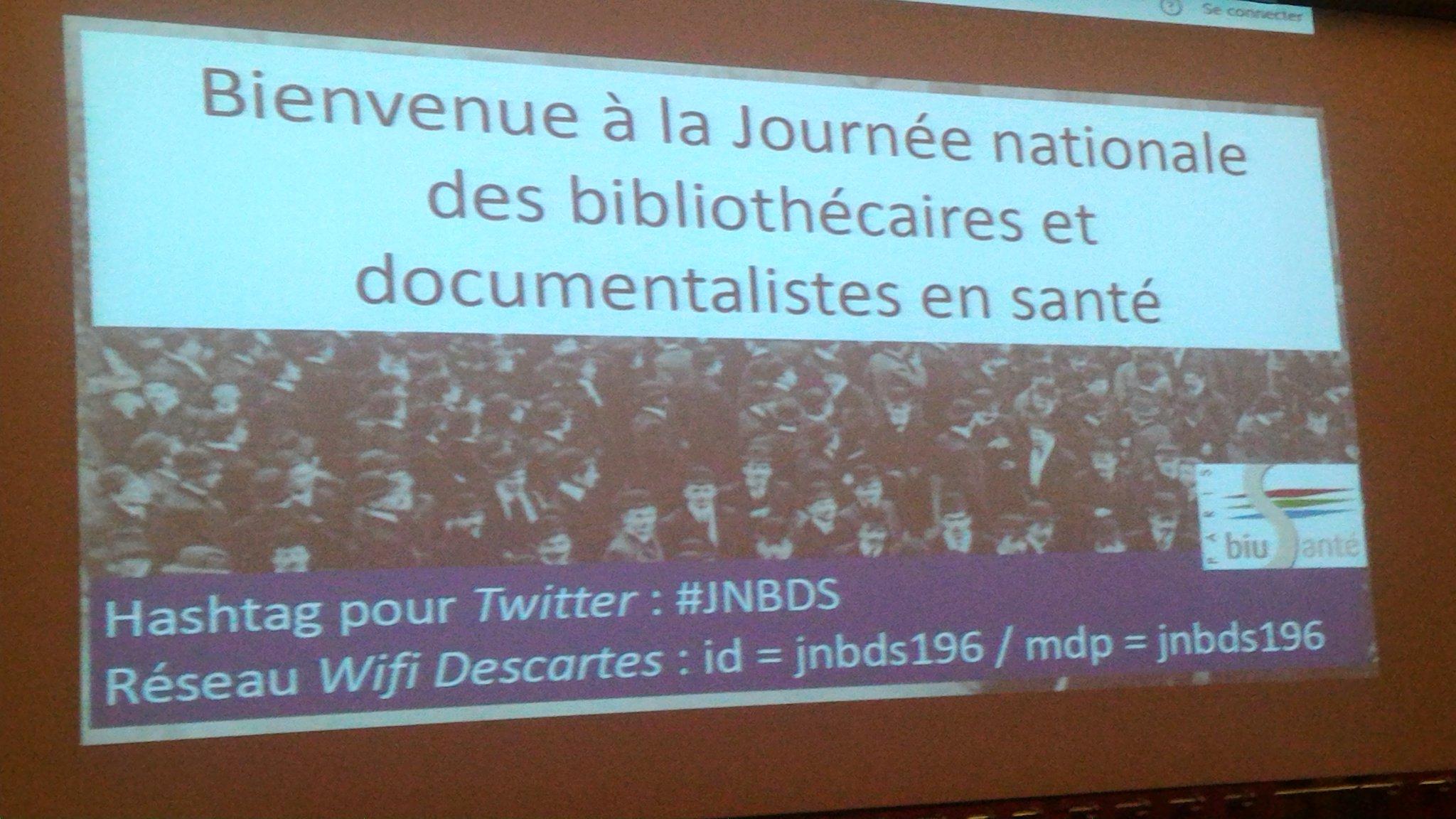 Le centre de ressources documentaires de l'#ANPAA présent à la première #JNBDS. Plus de 100 participants https://t.co/nHYmh5gDx9