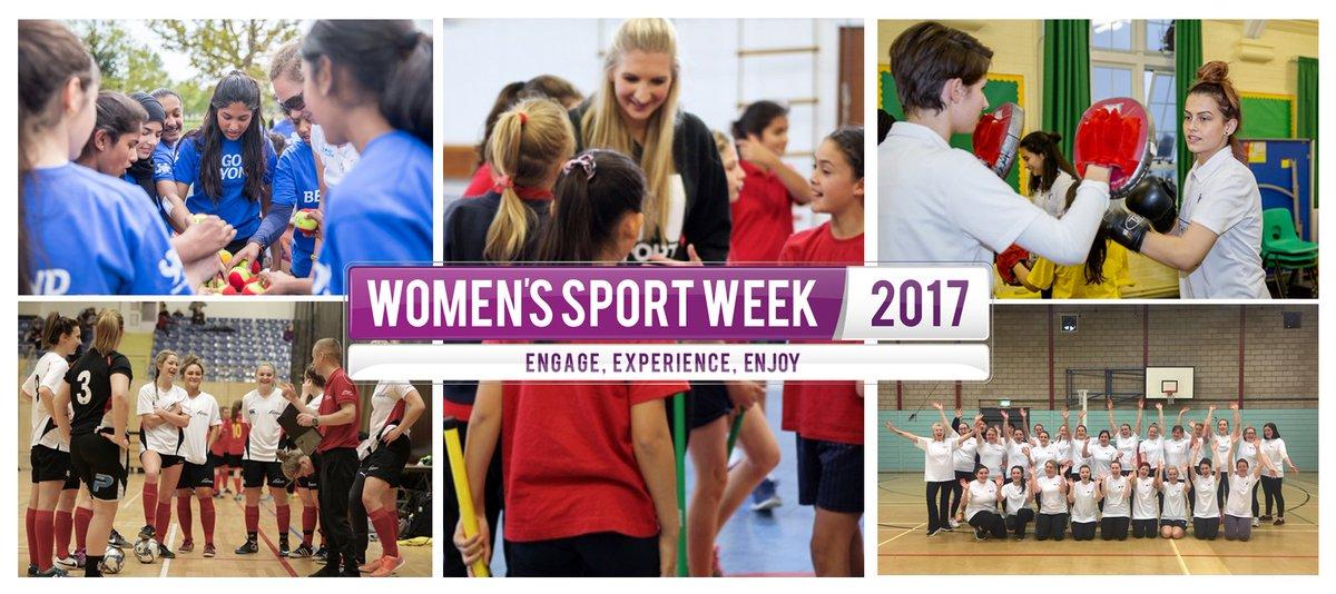 It's Women's Sport Week 2017 Engage. Exp...