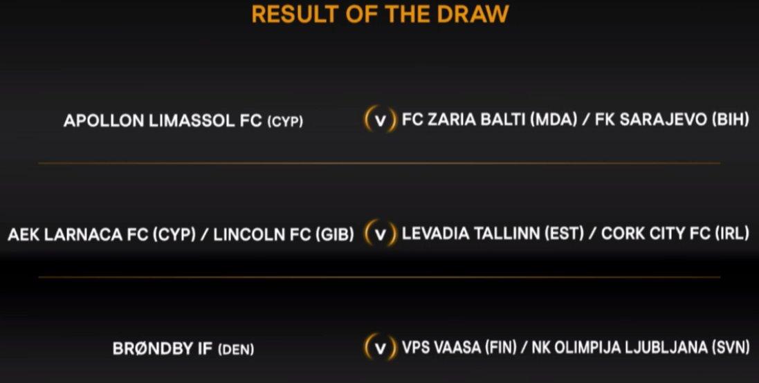 Should @CorkCityFC beat Levadia Tallinn, they will face AEK Larnaca or Lincoln FC. #UELdraw #LOIinEurope<br>http://pic.twitter.com/JVTEmae9jb