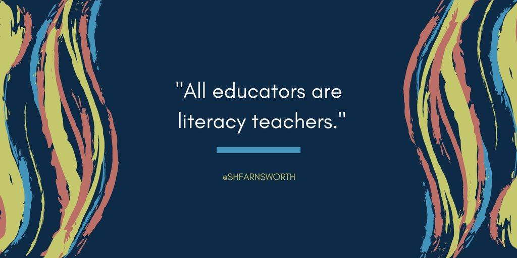 No matter your content area, we all teach literacy. #EdChat #ELAchat via @shfarnsworth